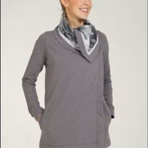 Lululemon Blurred Gray Savasana Wrap Jacket
